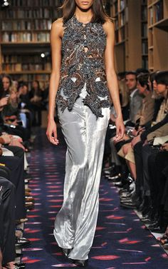 Floral Sequined Light Crepe Vest by Sonia Rykiel