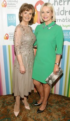 Adi Roche and Claire Byrne. Celebrity Gossip, Claire, Irish, Female, Formal Dresses, Celebrities, Lady, Beauty, Fashion