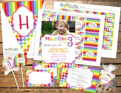 Throwing a Rainbow Polka Dots Party! - Three Little Monkeys Studio