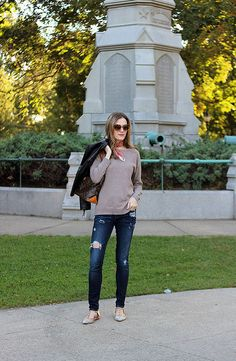 Brown Leather Jacket and Nordstrom Giveaway