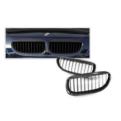 Bimmian CFG200BYY AutoCarbon Carbon Fiber Grills - Front Grille Pair For F20 2000 and up, Black Carbon Fiber, As Shown