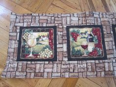 Quilted Wine Table Runner with Four Scenes by DonnasDoings16, $25.00
