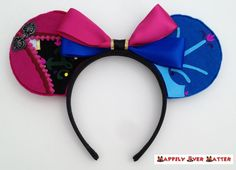 Anna Inspired Ear Headband- Do you want to build a snowman? This Minnie Mouse ear headband is the perfect accessory for your Frozen or Anna inspired outfit at Walt Disney World or Disneyland!