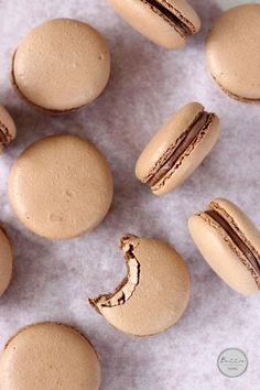 Chocolate Hazelnut Macarons | Butter Baking Brought to you by: Baja Mamas Party Rentals & Catering in Tucson, AZ http://www.bajamamas.com