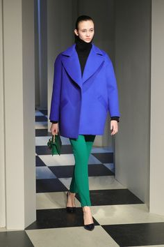 A model wearing Oscar De La Renta walks the runway for the Oscar De La Renta & Monse collection during, New York Fashion Week: The Shows at Gallery 1, Skylight Clarkson Sq on February 13, 2017 in New York City.