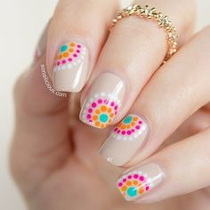 There are three kinds of fake nails which all come from the family of plastics. Acrylic nails are a liquid and powder mix. They are mixed in front of you and then they are brushed onto your nails and shaped. These nails are air dried. Dot Nail Art, Polka Dot Nails, Polka Dots, Polka Dot Pedicure, Nail Design Spring, Nail Designs Summer Easy, Nail Art Ideas For Summer, Dot Nail Designs, Nails Design