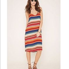 Xs Forever 21 Striped Cami Dress