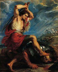 David Slaying Goliath, c. 1616  Norton Simon Museum