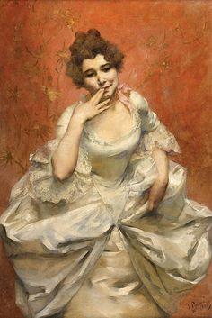 Victor Prouvé (1858-1943), Un Baiser - 1885