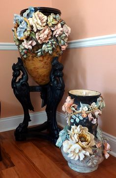 French Majolica Barbotine by My Beautiful Barbotine, via Flickr