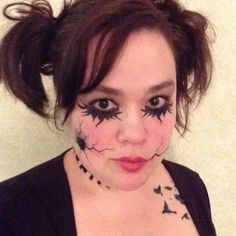 From SugarTats on Etsy: Temporary Makeup Tattoos Halloween 2013, Halloween Make Up, Halloween Face Makeup, Doll Tattoo, Broken Doll, White Makeup, Creative Costumes, Makeup Tattoos