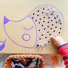 Hedgehog 🦔 simple #finemotor skill activity Elementary Art, Preschool Crafts, Fine Motor, Fall Crafts, Hedgehog, Diy Projects, Activities, Straws, Simple