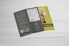 Aesthetix Trifold Duo + Logo by fisihsani on Creative Brochure, Brochure Design, Indesign Templates, Brochure Template, Slab Serif Fonts, Organizing Services, Frame Background, Free Logo, Foil Stamping