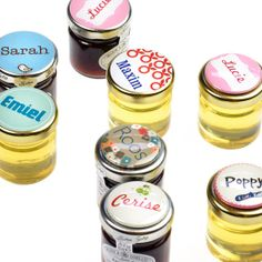 Glazen potje confituur of honing -Kaartjes en Co