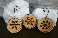 wood burning christmas ornaments - Google Search