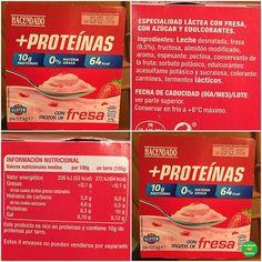 YOGUR CON TROZOS DE FRESA ALTO EN PROTEÍNAS HACENDADO.  .  Supermercado: @mercadona.  P.V.P: 1,40 euros.  .  #lacestadefranitamercadona #heathyfranita #follow #followme #like4like #supermercados #basicos #yogur #proteinas