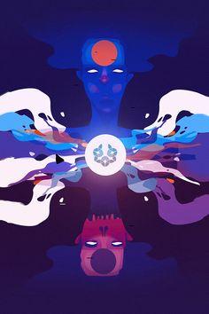Illustrations III by Eduardo Higareda, via Behance