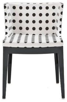 Mademoiselle Chair, Black and White - modern - chairs - YLiving.com