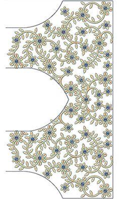 Indian Kutchi Work Saree Blouse Design