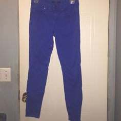 Royal blue skinnies Royal blue skinny pants good condition really cute. 98% cotton and 2% elastane. Make me an offer! Tahari Pants Skinny