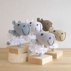 Amigurumi hippo ballerina