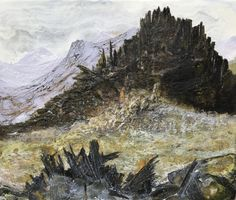 Castell y Gwynt Wales Uk, Encaustic Art, Texture Art, Mixed Media, Wax, Layers, Studio, Abstract, Nature