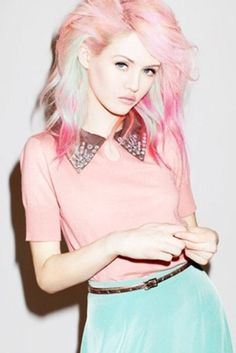 Pink and Punk / karen cox. pastel goth - Spring style Chantell on Melrose
