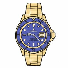 REPOST!!!  #watch #watches #illustration #rolex #luxury #timehop #sketch #handmade #adobeillustrator #gold #blue #chronograph #submariner  Photo Credit: Instagram ID @vivektomar97
