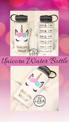I drink my unicorn water everyday. I love my new water bottle. Unicorn | Unicorn Water Bottle | Water Tracker Water Bottle | Motivation | Gym | Work Out Gear | Personal Tumbler #ad #etsy