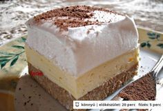 Foamy the real cake! Sweet Desserts, No Bake Desserts, Easy Desserts, Sweet Recipes, Dessert Recipes, Hungarian Desserts, Hungarian Cake, Hungarian Recipes, Sweet Cookies