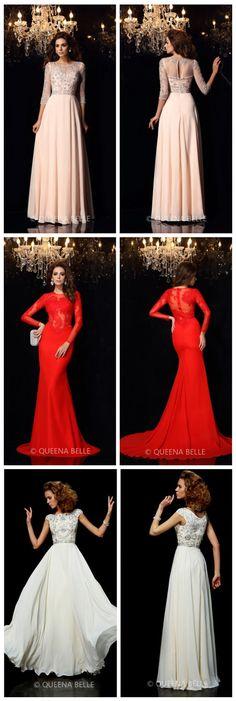 Long Prom Dresses via QueenaBelle! Hottest Sales!  100% Handmade Service.