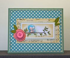Bird card by Paula Williamson.  Stacey Yacula Studio stamps from Purple Onion Designs.
