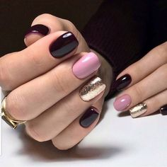 What Christmas manicure to choose for a festive mood - My Nails Shellac Nails Fall, Gelish Nails, Spring Nails, Winter Nails, Autumn Nails, Summer Nails, Nail Polish Colors, Nails Polish, Cute Nails
