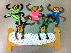 Library Village: Flannel Friday - Five Little Monkeys (Jumping on the Bed!)