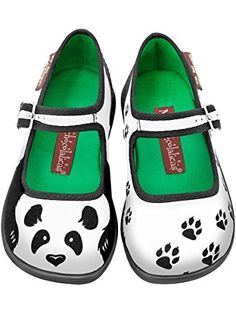 Hot Chocolate Design Mini Chocolaticas Panda Girls Mary Jane Flat Multicoloured US Size: 6 ❤ ...