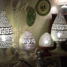 Handmade ceramic light Apulia ceramics - check in Ostuni