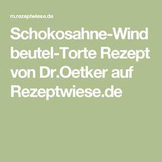 Schokosahne-Windbeutel-Torte Rezept von Dr.Oetker auf Rezeptwiese.de
