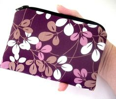 Little Zipper Pouch Coin Purse ECO Friendly Padded Simply Plum NEW by JPATPURSES, $8.00
