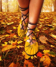 Beautiful handmade leather sandals.