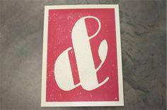 Love, love, love this ampersand print. @allison vieger @Laura Busby