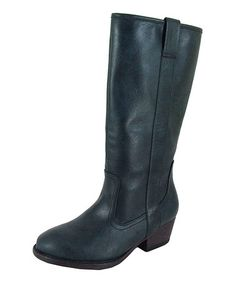 Take a look at this Blue Trevor Riding Boot by Qupid on #zulily today!