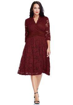 Tahari three quarter sleeve lace dress