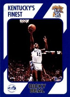 c48b6faca8d  10 - Dicky Beal - Kentucky Wildcats Front 1989-90 Collegiate Collection  Kentucky Total Cards  300