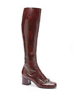 d9b1ed3a27fb Gucci - Lillian Python Horsebit Knee-High Boots