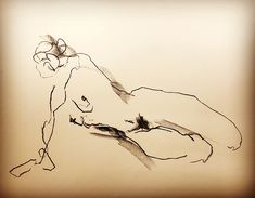 "STRETCHING STELLA - 2 min position . . Lefty Nude Art ""My art is drawn with the 'wrong' hand to let go and not get stuck in details and perfection. All positions are between 30 seconds and 5 minutes."" #croquis #kroki #nudeart #charcoal #art #lifedrawing #leftynudeart #malinhelgesson #misslefty"