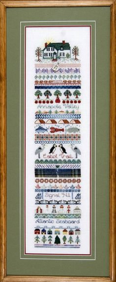 Atlantic Seaboard Sampler Counted Cross Stitch Charted Design