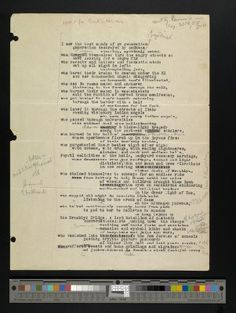 """Original drafts of Allen Ginsberg's """"Howl"""" featuring numerous annotations and corrections. Includes Part I, drafts 1-5; Part II, drafts 1-18; Part III, drafts 1-5; and Part IV, drafts 1-7."""