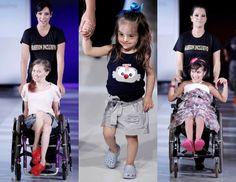 Crianças com deficiência desfilam pelo projeto Fashion Inclusivo (Foto: Sérgio Camargo)