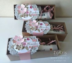 Stampin' Up! - Tag a Bag Gift Boxes, Flower Shop, Petite Petals, Hip Hip Hooray Card Kit 3d Paper Crafts, Paper Gifts, Paper Crafting, Diy And Crafts, Diy Gift Box, Diy Box, Gift Tags, Pretty Packaging, Gift Packaging