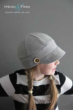 What a perfect hat for your little trendsetter! This pattern is for the Downtown Hat. The hat is a modern take on a baseball cap and way more comfy!